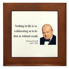 Winston Churchill 16 Framed Tile