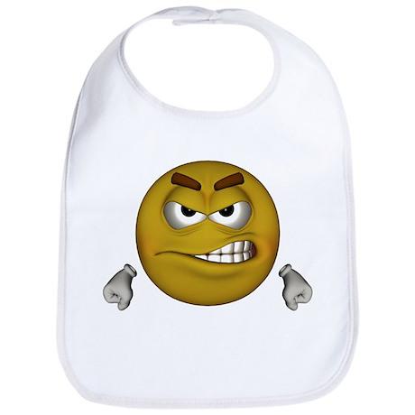 Angry Smiley Bib