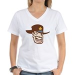 Cowboy Sheriff Women's V-Neck T-Shirt
