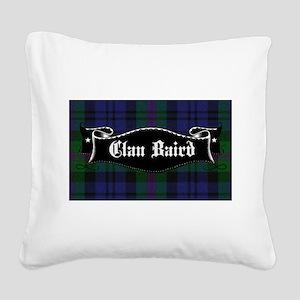 Clan Baird Tartan Banner Square Canvas Pillow