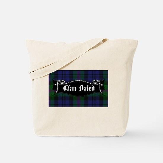 Clan Baird Tartan Banner Tote Bag