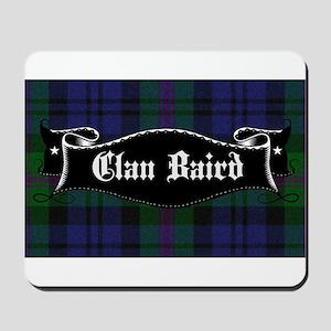 Clan Baird Tartan Banner Mousepad