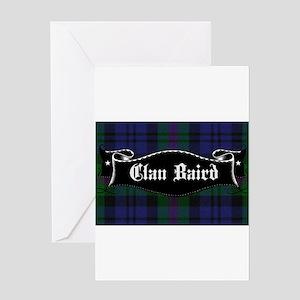 Clan Baird Tartan Banner Greeting Cards