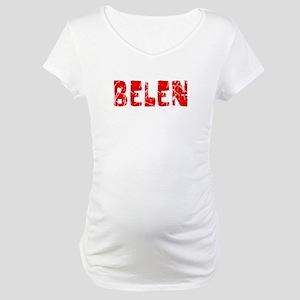 Belen Faded (Red) Maternity T-Shirt