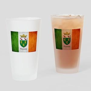 Rooney Irish Flag Drinking Glass