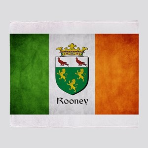 Rooney Irish Flag Throw Blanket