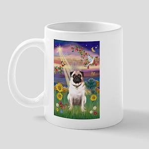 AUTUMN ANGEL & PUG Mug