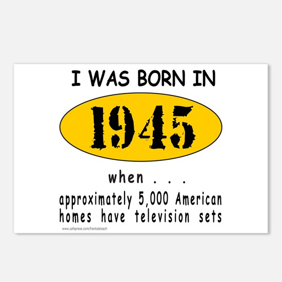 BORN IN 1945 Postcards (Package of 8)