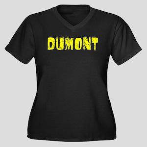 Dumont Faded (Gold) Women's Plus Size V-Neck Dark