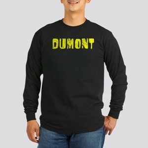 Dumont Faded (Gold) Long Sleeve Dark T-Shirt