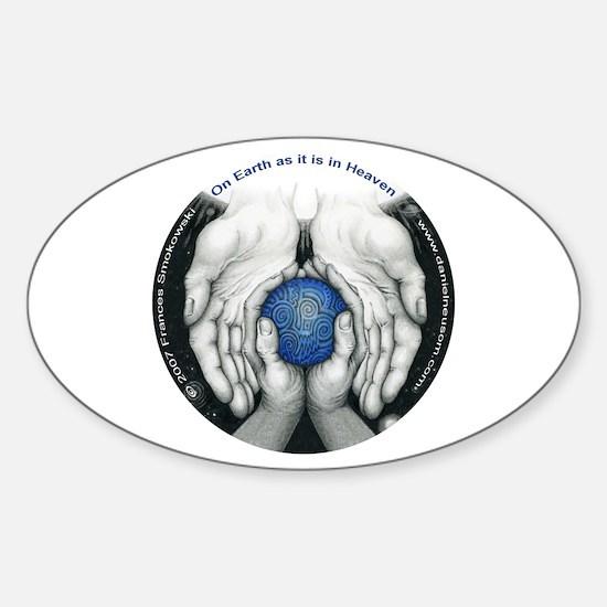 Heaven's Circle Oval Sticker (10 pk)
