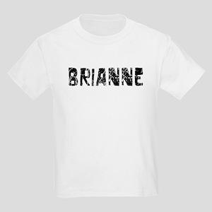 Brianne Faded (Black) Kids Light T-Shirt