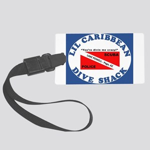 lil caribbean dive shack logo Large Luggage Tag