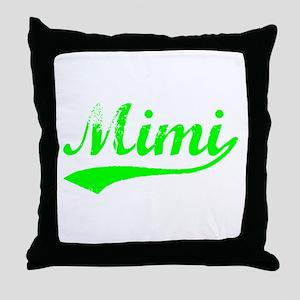 Vintage Mimi (Green) Throw Pillow