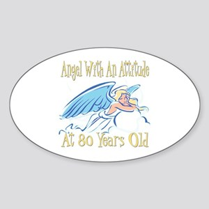 Angel Attitude 80th Oval Sticker