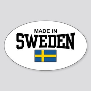 Made in Sweden Oval Sticker