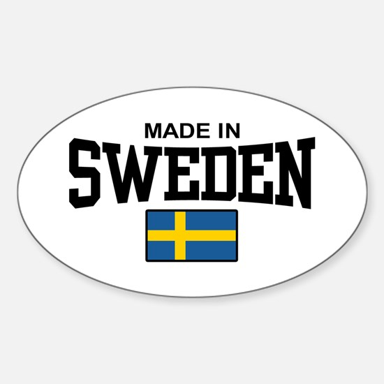 Made in Sweden Oval Decal