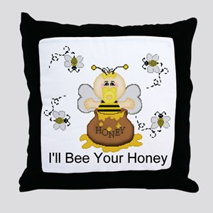 I'll Bee Your Honey Throw Pillow
