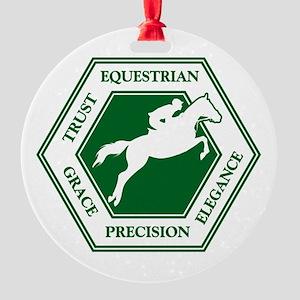 Equestrian Round Ornament