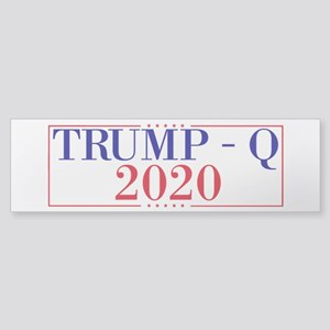 Trump Q 2020 (bumper) Bumper Sticker