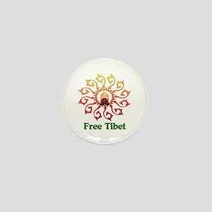 Free Tibet Candle Mini Button