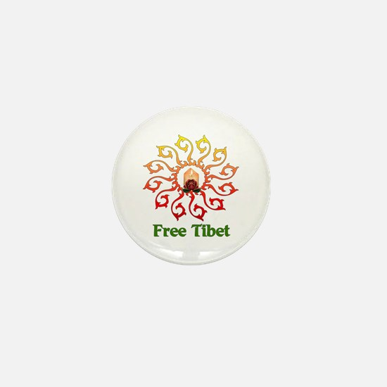 Free Tibet Candle Mini Button