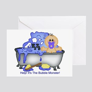 Help! Bubble Monster! Greeting Cards (Pk of 10