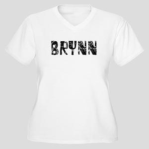 Brynn Faded (Black) Women's Plus Size V-Neck T-Shi