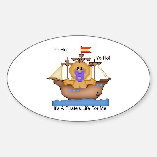 YoHo YoHo It's A Pirate's Life Oval Decal