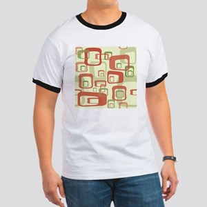 Mid Century Modern in Green and Red T-Shirt