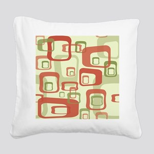Mid Century Modern in Green a Square Canvas Pillow