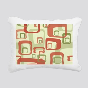 Mid Century Modern in Gr Rectangular Canvas Pillow