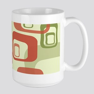 Mid Century Modern in Green and Red Mugs