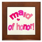 Pink Kiss Maid of Honor Framed Tile