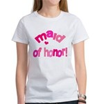 Pink Kiss Maid of Honor Women's T-Shirt