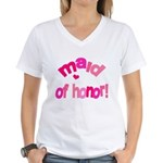 Pink Kiss Maid of Honor Women's V-Neck T-Shirt