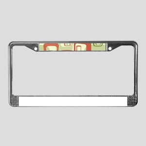 Mid Century Modern in Green an License Plate Frame