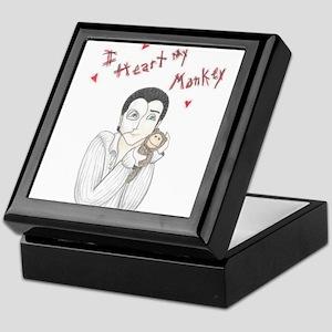 I heart my monkey Keepsake Box