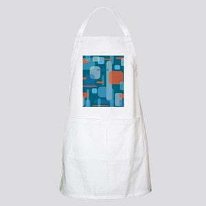 Blues and Coral from the Mid Century Light Apron