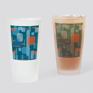 Blues and Coral from the Mid Centur Drinking Glass