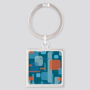 Blues and Coral from the Mid Century Keychains