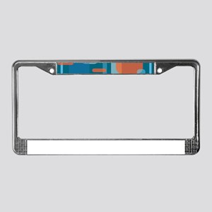 Blues and Coral from the Mid C License Plate Frame