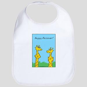 Passover Giraffes Cotton Baby Bib