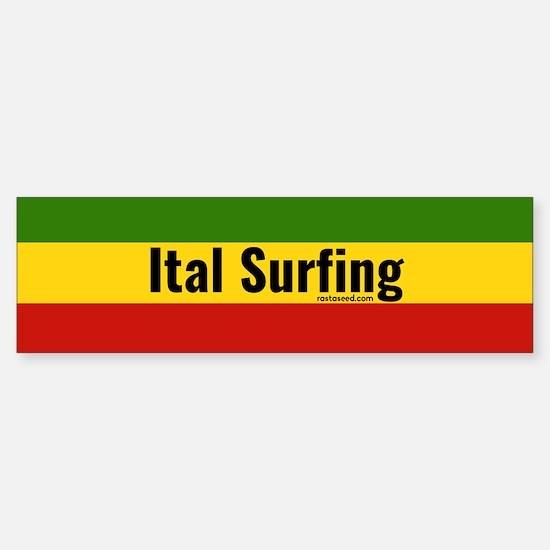 Ital Surfing Bumper Bumper Bumper Sticker