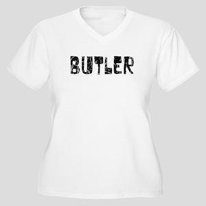 Butler Faded (Black) Women's Plus Size V-Neck T-Sh