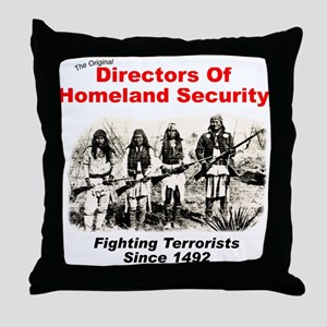 Homeland Security Since 1492 Throw Pillow