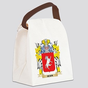Herm Coat of Arms - Family Crest Canvas Lunch Bag