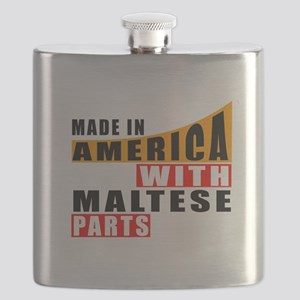 Made In America With Maltese Parts Flask