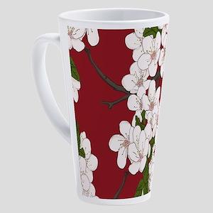 Cherry Blossoms 17 oz Latte Mug
