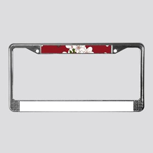 Cherry Blossoms License Plate Frame